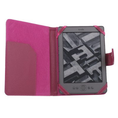 Leather Case Cover Skin PU for Latest Amazon Kindle 4 4th Generation Rose