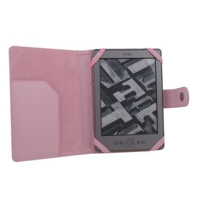 Leather Case Cover Skin PU for Latest Amazon Kindle 4  Pink