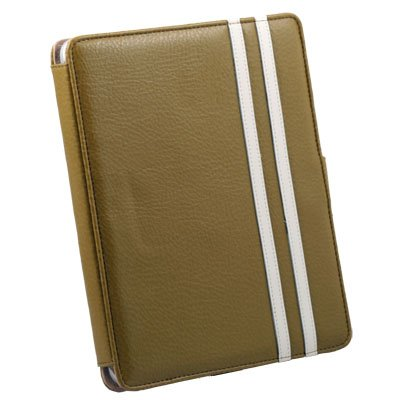 Green Leather Case Pouch Kick Stand for Apple iPad