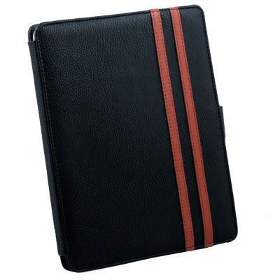 Leather Case Pouch Kick Stand for Apple iPad Black