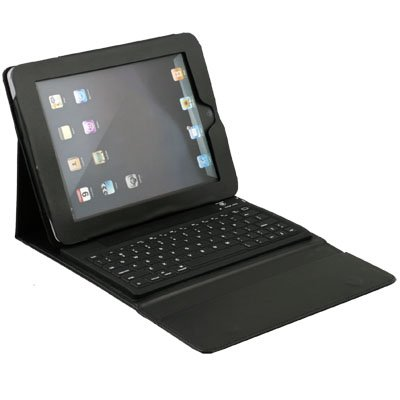 Bluetooth Wireless Keyboard with Leather Case for iPad