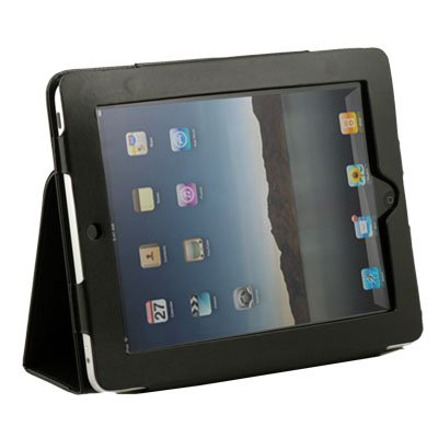Black PU Leather Folding Skin Case Cover for Apple iPad