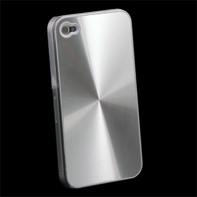 CD Hard Back Case Skin Cover for iPhone 4 4G Silver