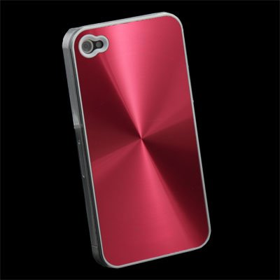 CD Hard Back Case Skin Cover for iPhone 4 4G (Red)