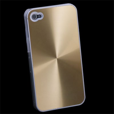 Gold CD Hard Back Case Skin Cover for iPhone 4 4G