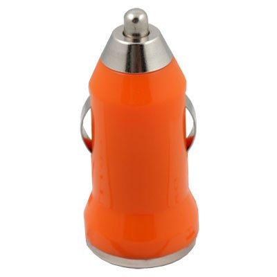 For iTouch iPhone 4 Mini Car Charger USB Adapter(Orange)