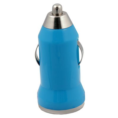 Mini Car Charger USB Adapter for Apple iTouch iPhone 4 (Blue)