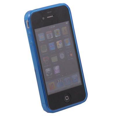 Blue Transparent DotWave Rubber for Apple iPhone 4 4G 4S