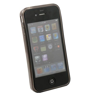For Apple iPhone 4 4G 4S  Transparent DotWave Rubber Black