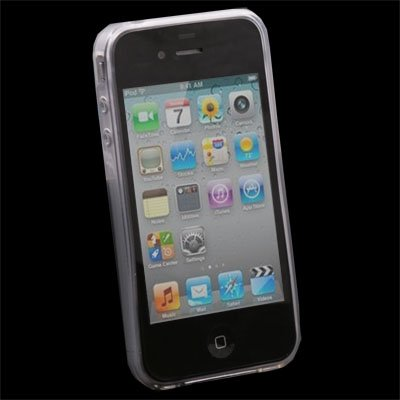 Transparent DotWave Rubber Case for Apple iPhone 4 4G