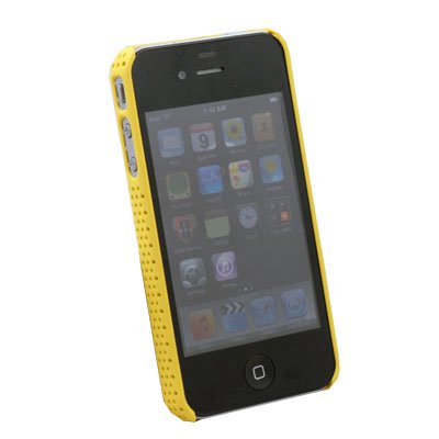 Yellow Net Hard Case Cover for Apple iPhone 4 4G