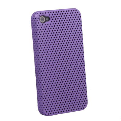 Purple Net Hard Case Accessory for iPhone 4 4G