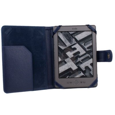PU Leather Case Cover for  Amazon Kindle 4 4th Generation Sapphire