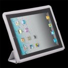 Gray Leather Case Cover Pouch Stand for Apple iPad2 2nd