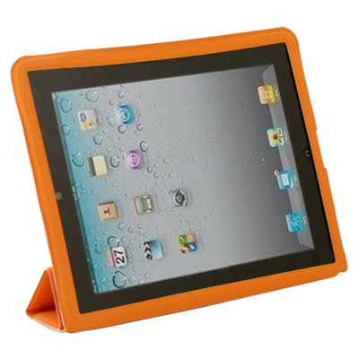 Orange Leather Case Cover Pouch Stand for Apple iPad2 2nd