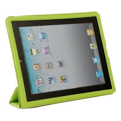 Green Leather Case Cover Pouch Stand for Apple iPad2