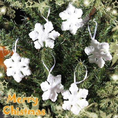 Lot of 6 Gorgeous Snowflake Xmas Christmas Tree Hanging Item Decoration