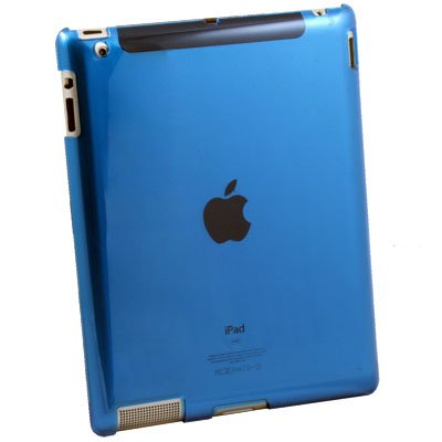 Clear Blue Crystal Hard Case Cover for Apple iPad 2
