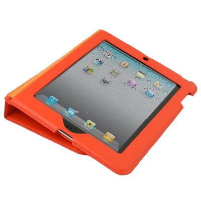 Orange Slim Leather Folding Case Cover for Apple iPad 2 #6339#