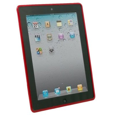 Red Dotwave Rubber Skin Case Cover for Apple iPad 2