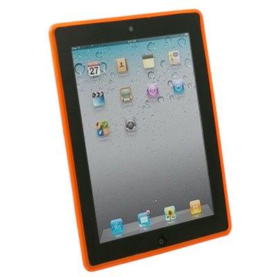 Orange Dotwave Rubber Skin Case Cover for iPad 2