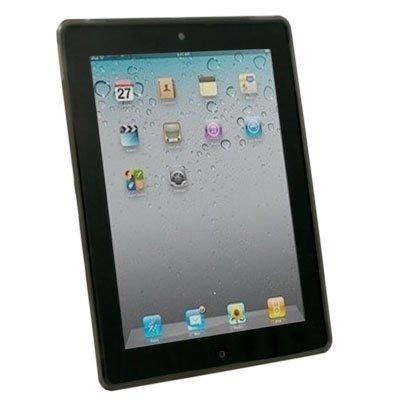 Black Dotwave Rubber Skin Case Cover for Apple iPad 2