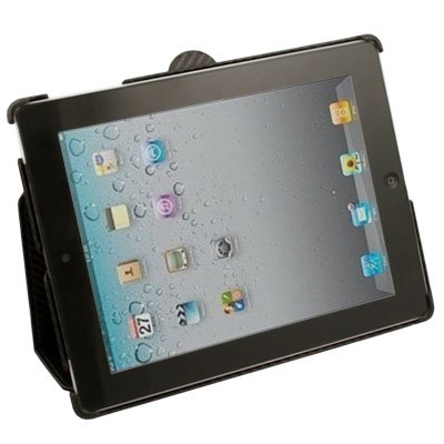 Matts Pattern Leather Stand Case Cover for iPad 2 Black