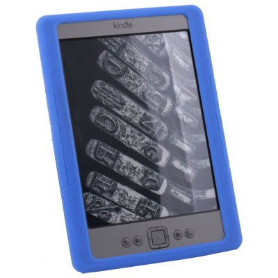 Silicone Skin Case Cover for Amazon Kindle 4 (Blue)