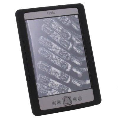 Black Silicone Skin Case Cover for Amazon Kindle 4 eBook