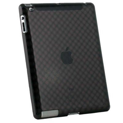 Black Soft Diamond Rubber Skin Case for Apple iPad 2