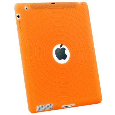 Orange Silicone Case Cover for Apple iPad 2 2G 2nd Gen #6283#