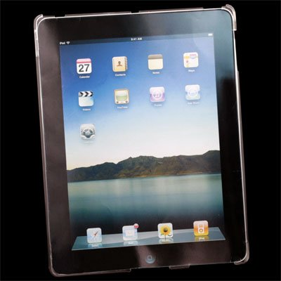 Clear white Crystal Hard Case Cover for Apple iPad 2