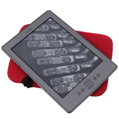 Soft Bag Case Cover Sleeve for Amazon Kindle 4 Red