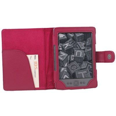 PU Leather Pouch Case Cover for Amazon Kindle 4 Peach #7486#