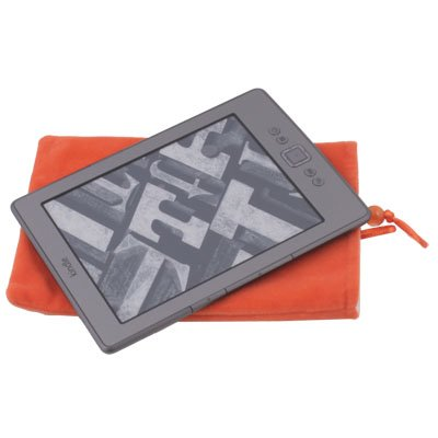 Suede Fabric Sleeve Pouch Bag Case for Amazon Kindle 4 4th (Orange)