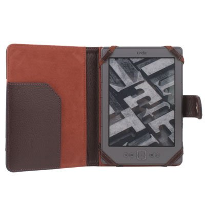 Leather Case Cover skin PU for Latest Amazon Kindle 4 4th Generation Coffee