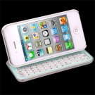 WHITE- BLUETOOTH KEYBOARD CASE SLIDING,LIGHTED,ANGLED,30 PIN, FOR IPHONE 4, 4S#8226#