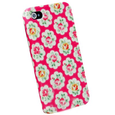 Pink Flower Slim Fit Hard Case Cover For iPhone 4 4G