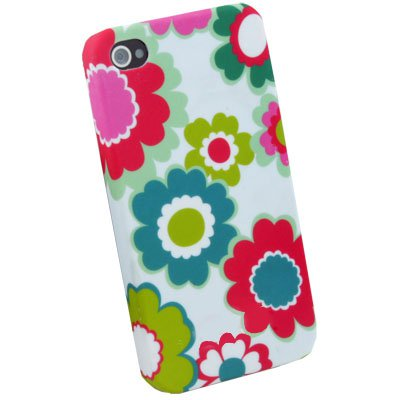 Colorful Flower Hard Slim Cover Case for iPhone 4 4G
