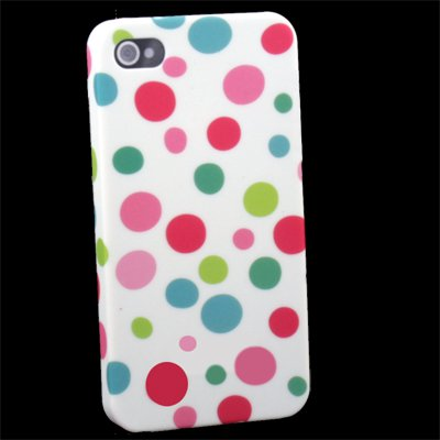 For iPhone 4 4G 4S Dot Color Flower Slim Hard Case Cover
