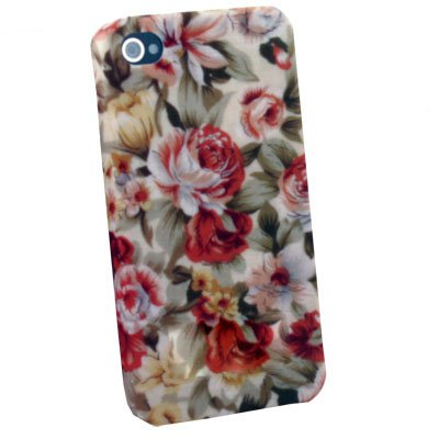 Flower Slim Hard Case Cover For iPhone 4 4G 4S Brown