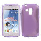 Purple S Line TPU Gel Back Case / Cover Samsung Galaxy S Duos S7562 #10146#