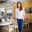 Cardigan Sweater with Elbow Guard Protection Pad/Apricot/L (WK01-12F002-Apricot-L)
