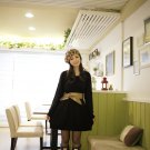 Sweet Twisted Sweater Dress/Black/M (12F158-BLACK-M)