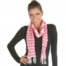 Angelina Striped Light Fashion Scarf - Pink & White #Angelina-WN115pink#