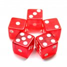 19mm Casino Craps Dice - Set of 5 Crystal Red (Ship US Country Only)#12747x5#