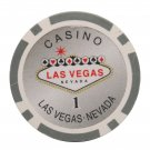 50pcs Matte Las Vegas Nevada Poker Chip $1 Grey 14 Gram (Ship US Country Only) #9952x50#