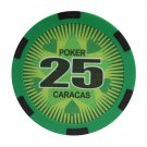 50pcs Matte Caracas Star Clay Poker Chips $25 Green 14 Gram (Ship US Country Only) #11028x50#