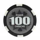 50pcs Matte Caracas Star Clay Poker Chips $100 Black 14 Gram (Ship US Country Only) #11029x50#