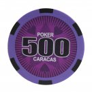 50pcs Matte Caracas Star Clay Poker Chips $500 Purple 14 Gram (Ship US Country Only) #11030x50#